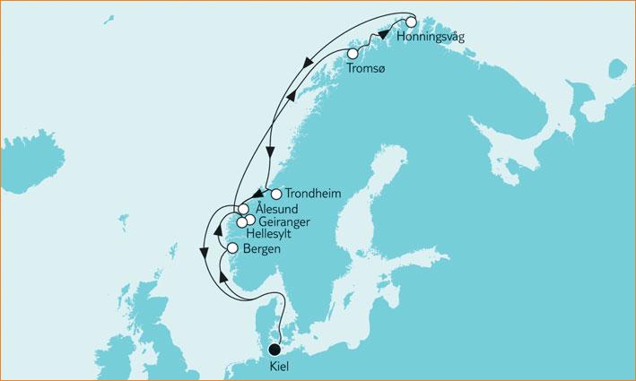Reiseanfrage Tui Cruises Mein Schiff 6 Jungfernfahrt Norwegen